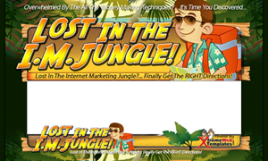 Pay for Lost In IM Jungle PSD Minisite HTML Graphics Ready Made Web Template