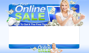 Pay for Your First Online Sale PSD Minisite HTML Graphics Ready Made Web Template