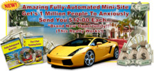 Thumbnail AMAZING FULLY AUTOMATED MINI SITE 12$ DOLLARS