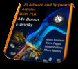 Thumbnail 25 Adware And Spyware High Quality PLR Articles