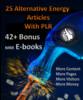 Thumbnail 25 Alternative Energy Article & 42+MRR ebooks