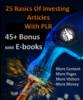 Thumbnail 25 Basics of Investing articles & 45+ mrr ebooks