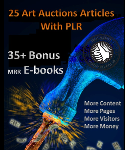 Pay for 25 Art Auctions articles & 35+ mrr ebooks