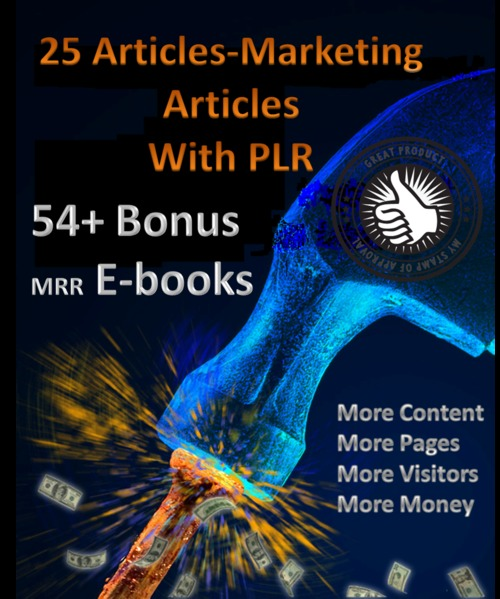 Pay for 25 Articles-Marketing articles & 54+mrr ebooks