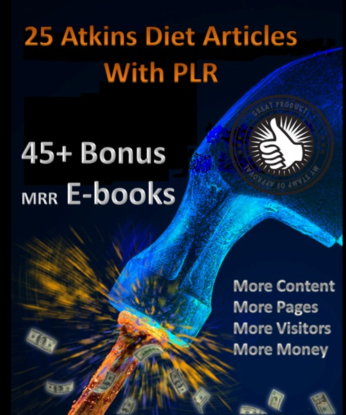 Pay for 25 Atkins Diet Articles & 45+ mrr ebooks