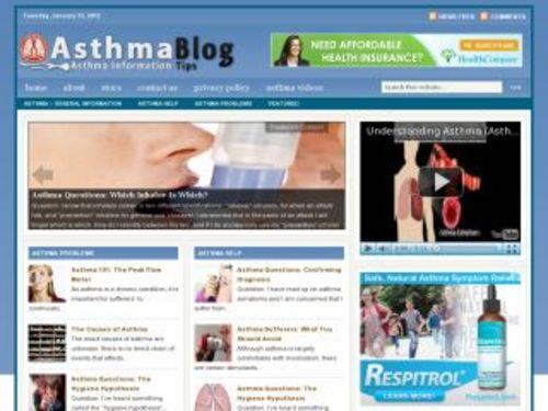 Pay for Asthma Health Niche Blog w/ PLR