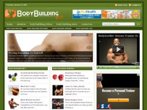 Pay for Body Building Health Niche Blog w/ PLR