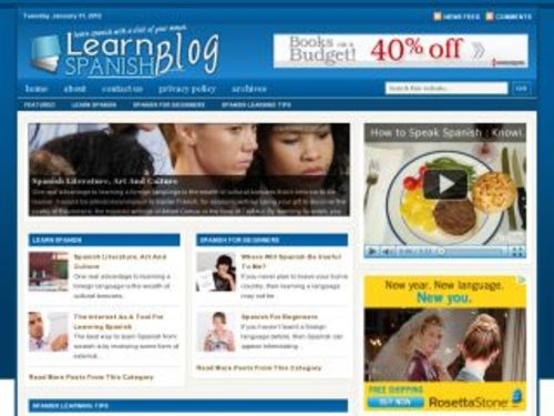 Pay for Learn Spanish Niche Blog w/ PLR