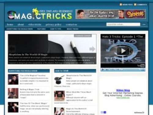 Pay for Magic Tricks Niche Blog w/ PLR