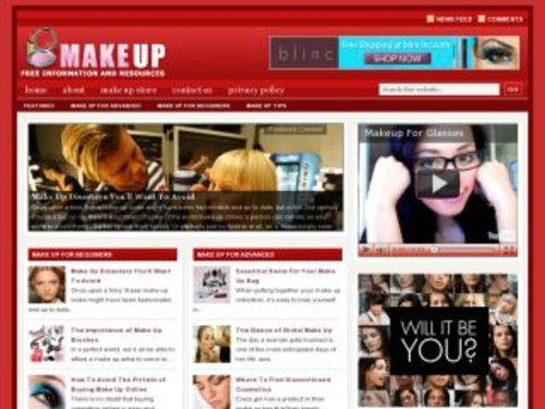 Pay for Make Up Cosmetics Niche Blog w/ PLR