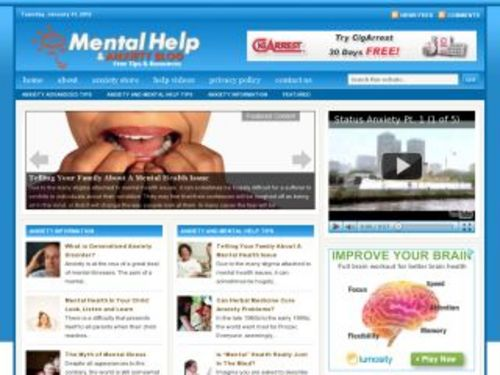 Pay for Mental Help Health Niche Blog w/ PLR