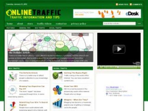 Pay for Online Traffic Marketing Niche Blog w/ PLR