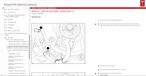 pay for tesla roadster service manual wiring diagrams parts catalog