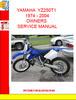 Thumbnail YAMAHA  YZ250T1 1974 - 2004OWNERS SERVICE MANUAL