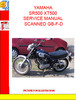 Thumbnail YAMAHA SR500 XT500 SERVICE MANUAL SCANNED GB-F-D