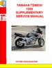 Thumbnail YAMAHA TDM850 1999 SUPPLEMENTARY SERVICE MANUAL