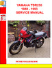 Thumbnail YAMAHA TDR250 1988 - 1993 SERVICE MANUAL
