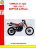 Thumbnail YAMAHA TT3505  1986 - 1987 SERVICE MANUAL