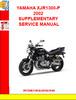 Thumbnail YAMAHA XJR1300-P 2002 SUPPLEMENTARY SERVICE MANUAL