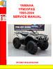 Thumbnail YAMAHA YFM35FXG 1995-2004 SERVICE MANUAL