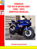 Thumbnail YAMAHA YZF R6 R-SR-RC-SRC 1999 - 2003 SERVICE MANUAL
