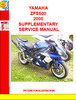 Thumbnail YAMAHA ZFS600 2000 SUPPLEMENTARY SERVICE MANUAL