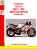 Thumbnail YAMAHA TZR250 1987 - 1996 SERVICE REPAIR MANUAL