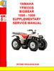 Thumbnail YAMAHA YFM350S BIGBEAR 1996 - 1998 SUPPLEMENTARY SERVICE MAN