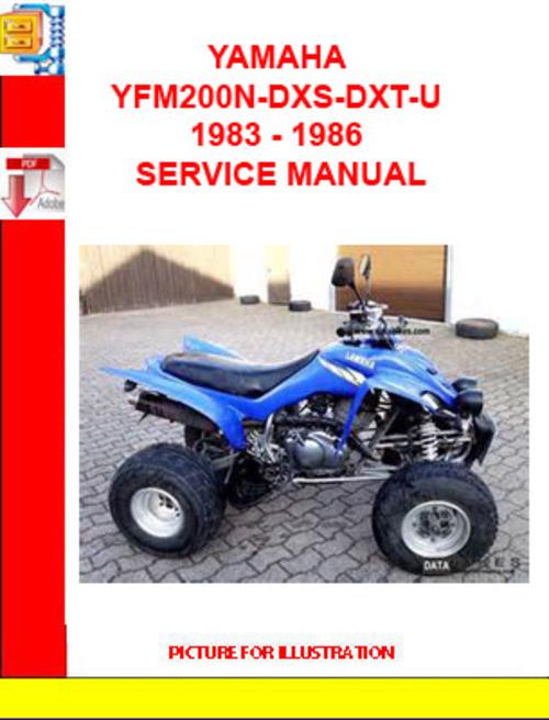 free yamaha yfm200n dxs dxt u atv service manual download. Black Bedroom Furniture Sets. Home Design Ideas