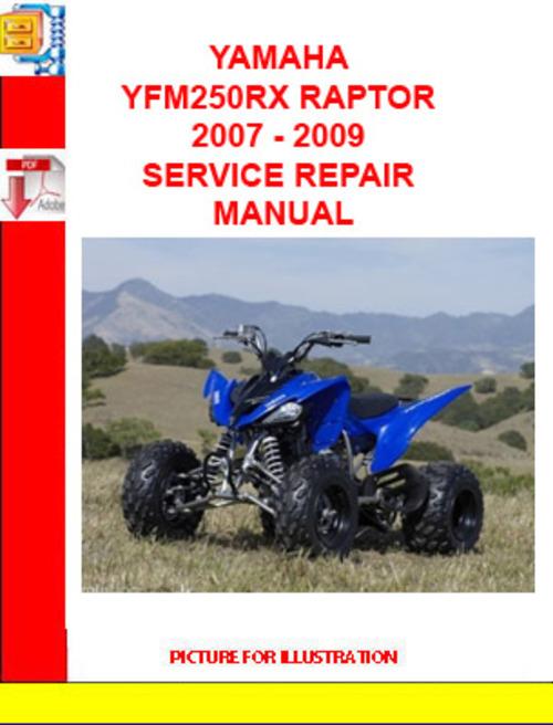 yamaha yfm250rx raptor 2007 2009 service repair manual. Black Bedroom Furniture Sets. Home Design Ideas