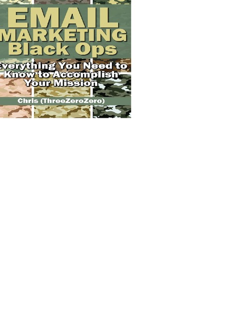 Pay for Email Marketing Black Ops