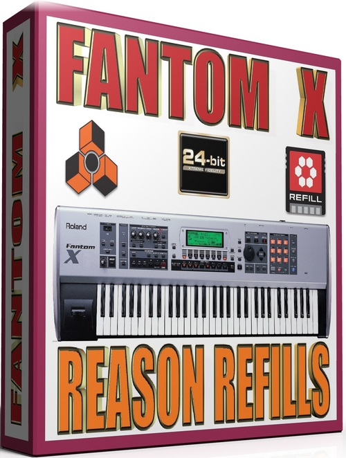 Pay for ROLAND FANTOM X SAMPLES REASON REFILLS sxt 25GB *24-BIT*