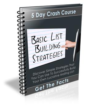 Thumbnail Basic List Building Strategies eCourse