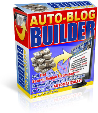 Pay for Auto Blog Builder - Private Label Rights To A Brand New And Profitable Software You Can Stick Your Name On That Earns You Money While You Sleep!