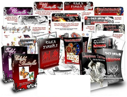 Pay for 9 Tattoo eBooks + Turnkey Websites + 9 Bonus MRR Package
