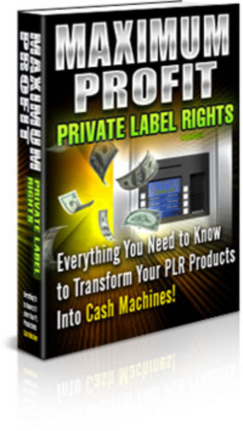 Pay for Max Profit PLR + Private Label Rights