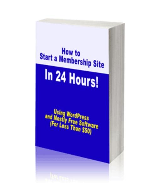 Pay for Start Membership Site  (PLR)