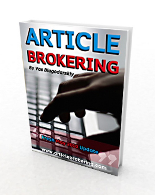 Pay for Article Brokering (Master Resell Rights)