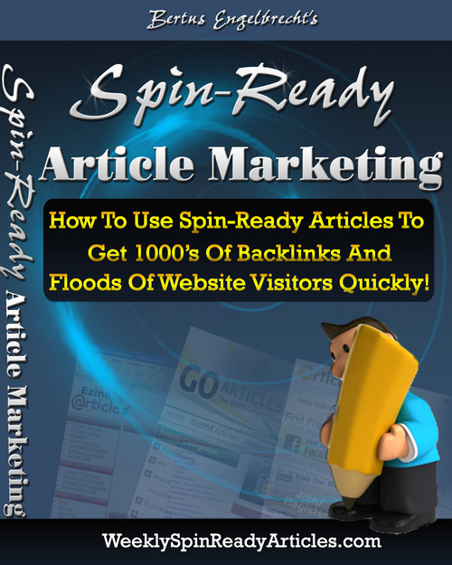 Pay for Spin Ready Article Marketing (Private Label Rights)