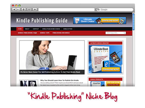 Pay for Kindle Publishing WordPress Niche Blog