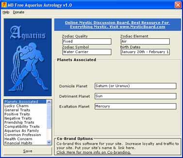 Pay for Aquarius Astrology Zodiac Sign