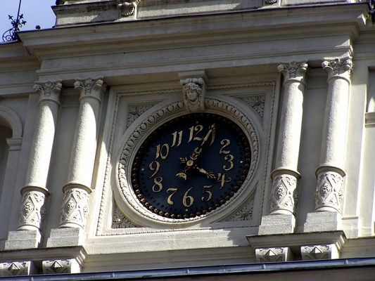 Pay for clock , city hall, Graz  / Austria