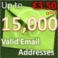 Thumbnail 15,000 Valid Email Addresses