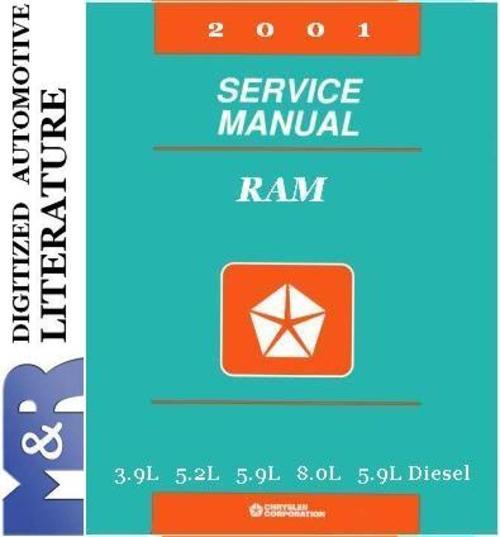 Free 2001 Dodge Ram 1500  2500  3500  Service Manual & Parts List Download thumbnail