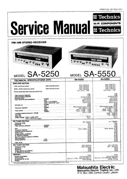 technics sa 5250 sa 5550 service manual download manuals rh tradebit com service manual 2240 jd service manual 2240 jd
