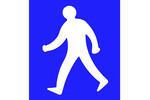 Thumbnail Man walking sign