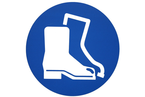 Pay for Safety boot sign