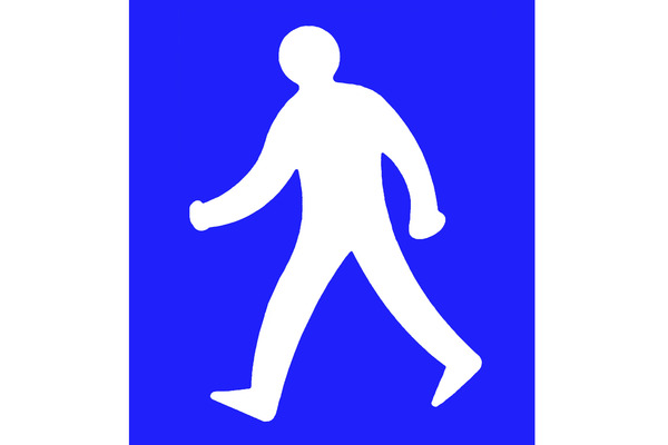 Pay for Man walking sign