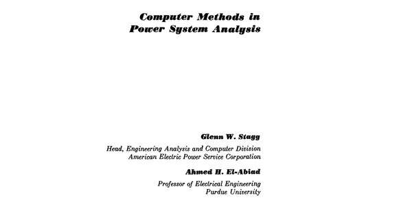 Pay for Computer methods in power systems analysis Stagg- El- Abiad