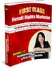 Thumbnail First Class Resell Rights Marketer